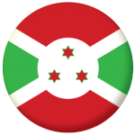 Burundi Country Flag 58mm Button Badge